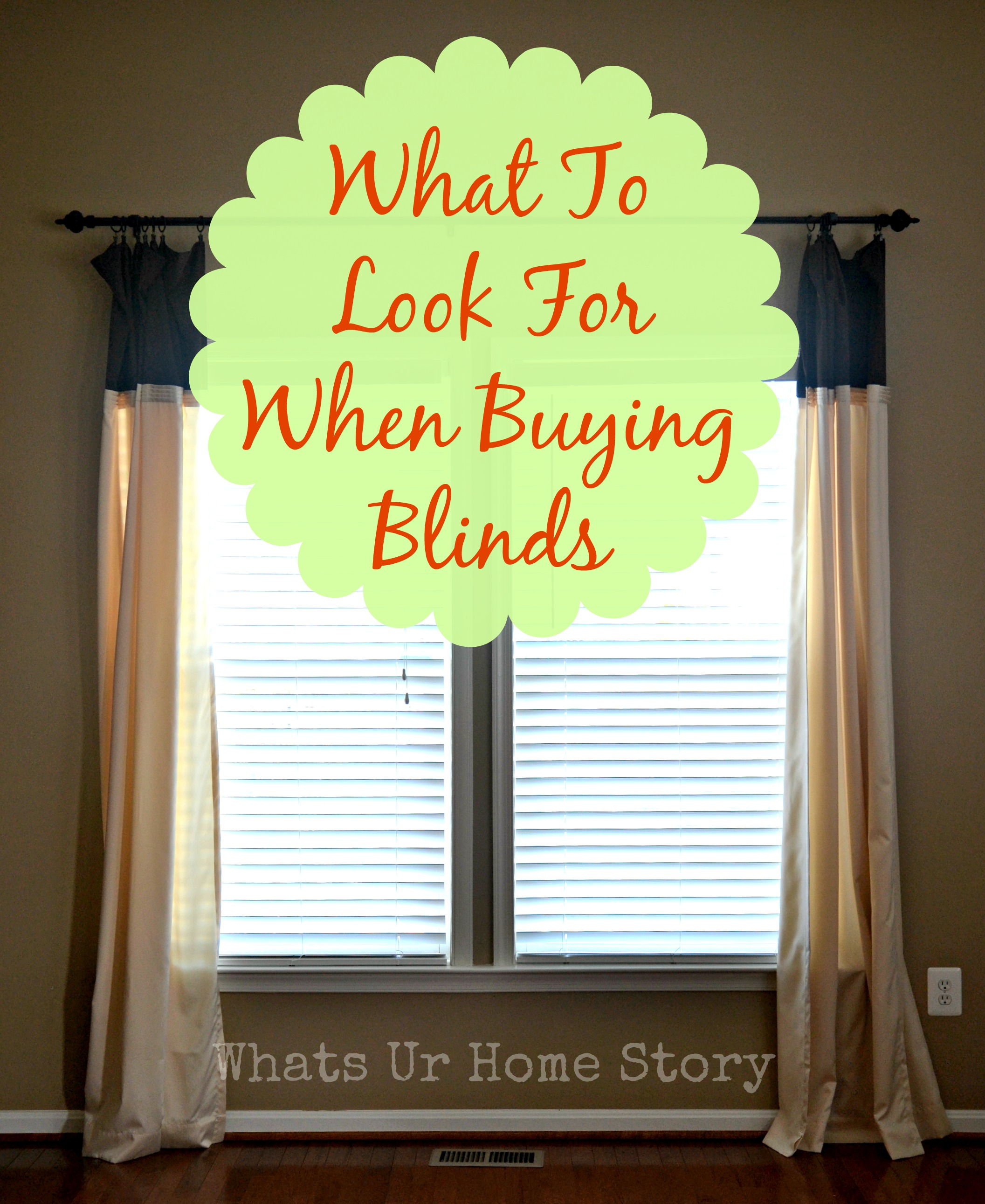 what to look for when buying blinds
