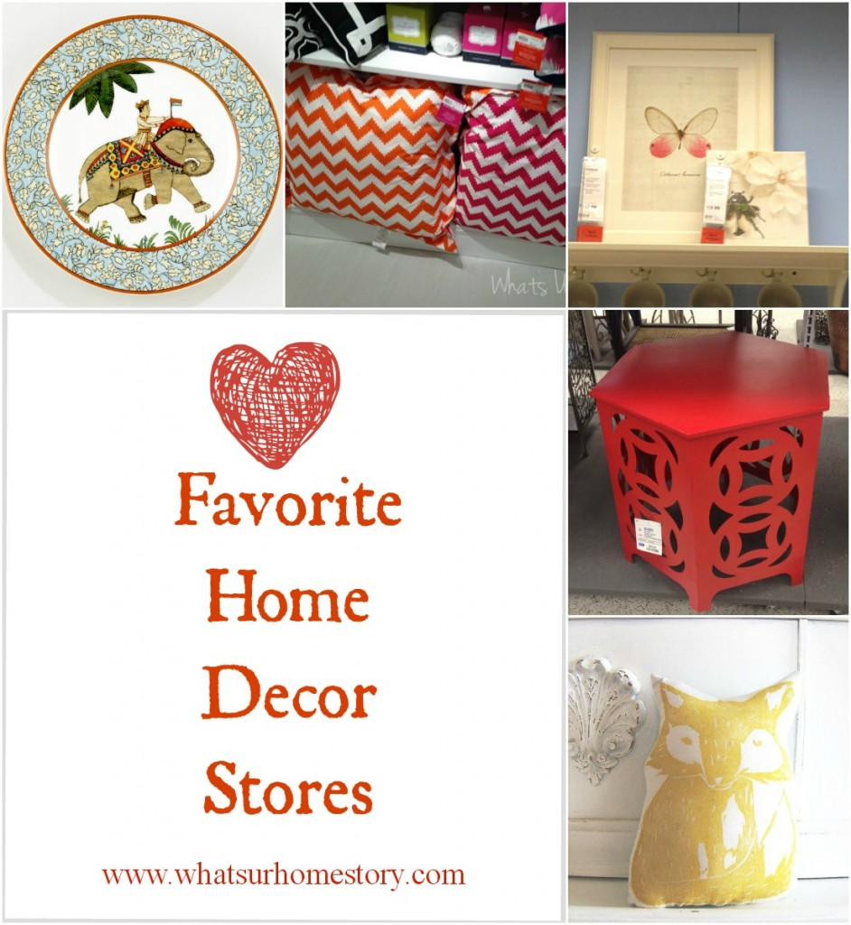 Favorite Home Goods Stores
