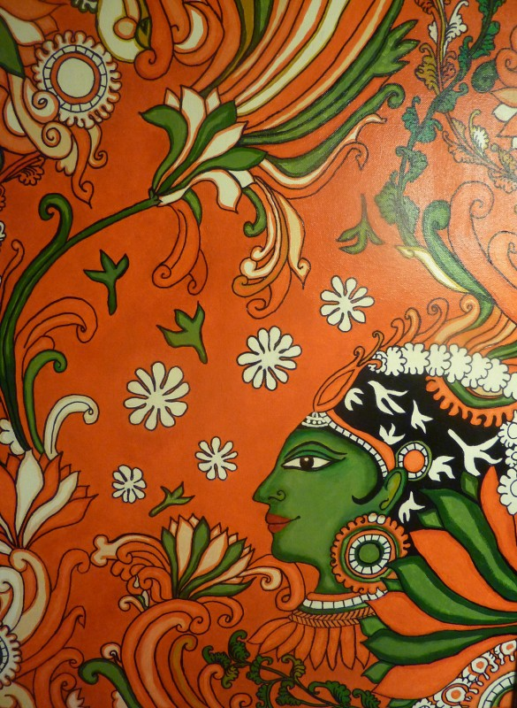 Kerala mural painting tutorial for the non painter for Easy mural painting