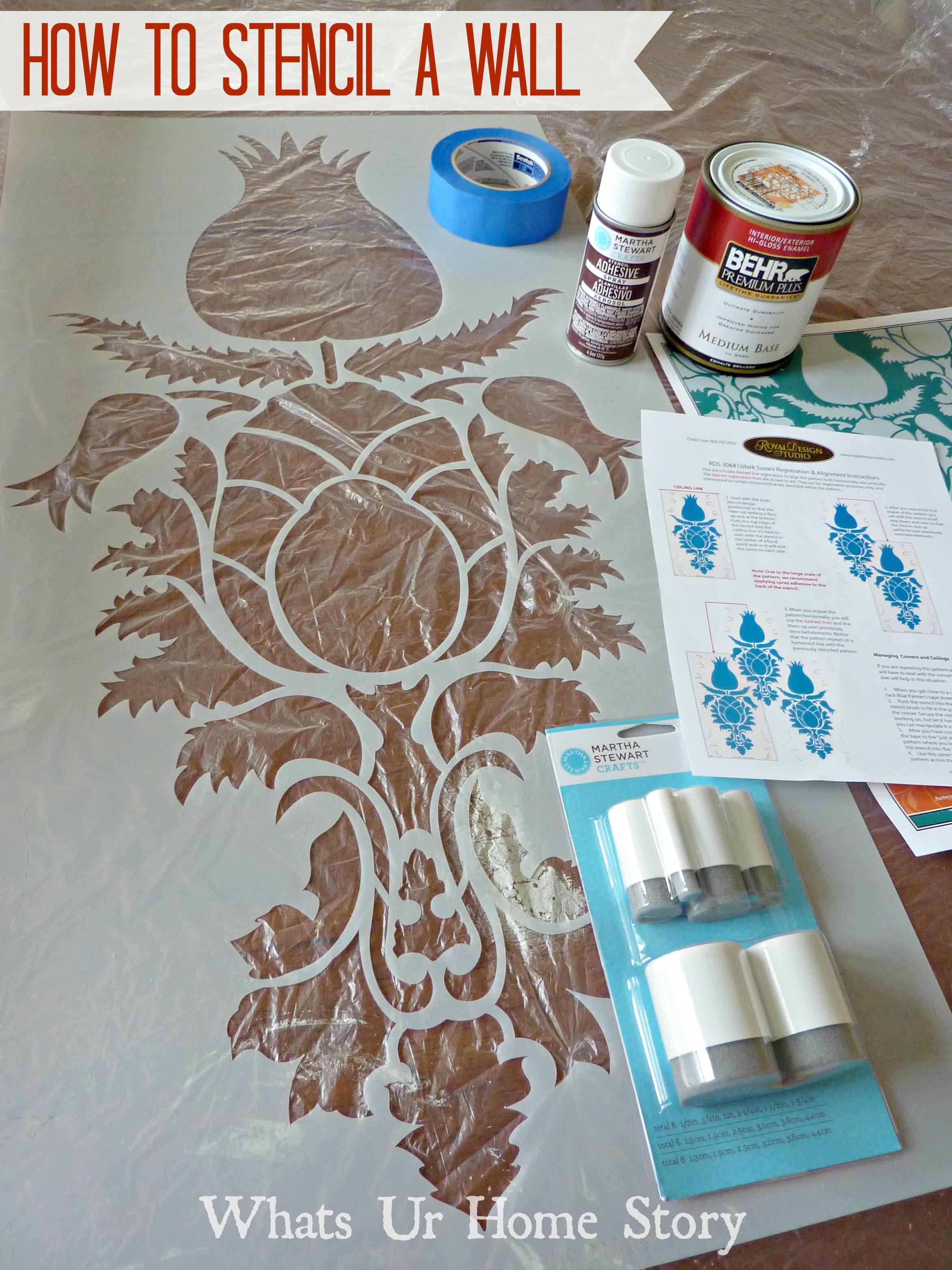 Wall Stencil,how stencil a wall,Uzbek Suzani Stencil,Royal Design Studio Stencil