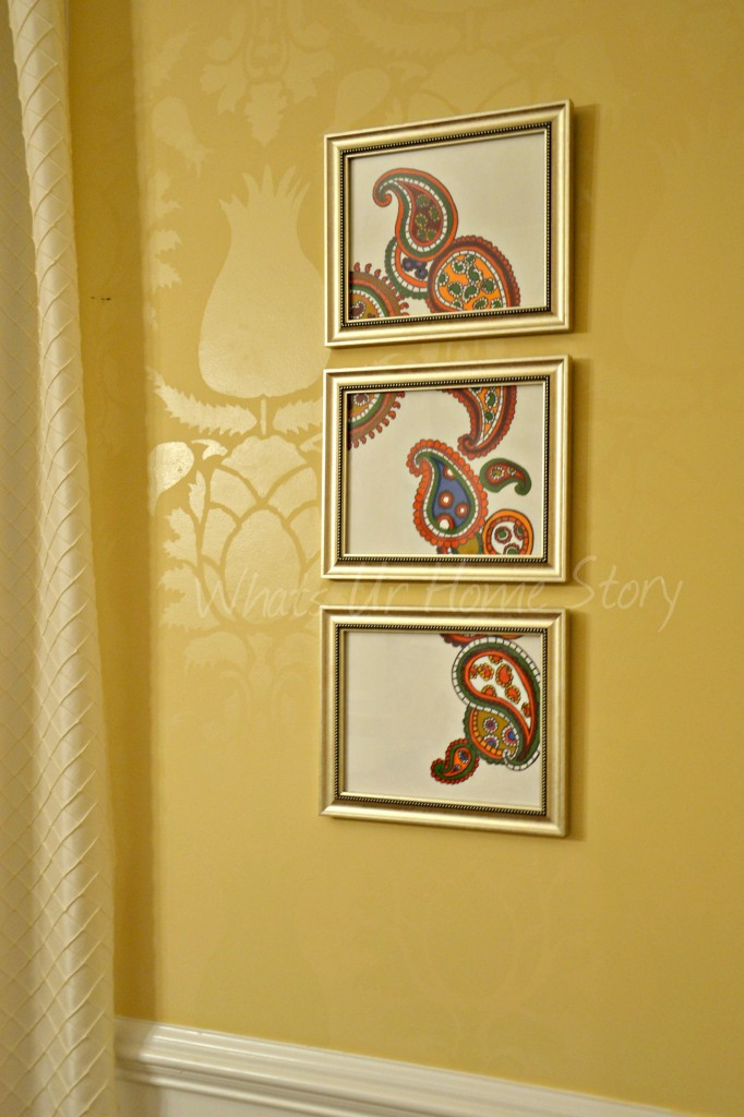 Diy Paisley Pattern Triptych Art For 5 Tutorial