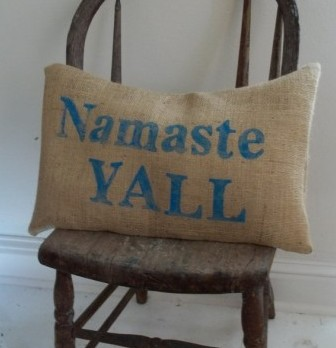 DIY Pillow Using Iron on Letters   Namaste Pillow