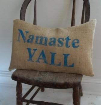 DIY Pillow Using Iron on Letters   Namaste Pillow