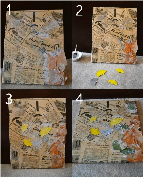 Recycled Newspaper Craft