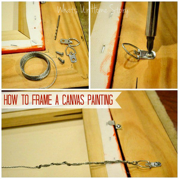 how to frame a painting whats ur home story