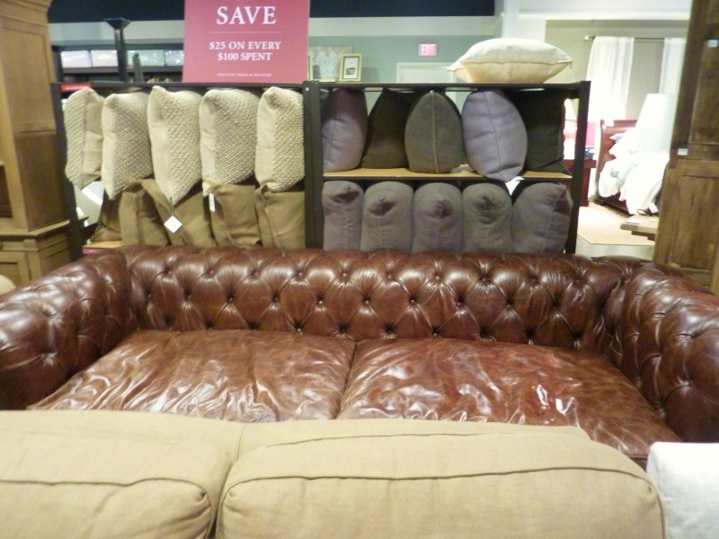 Window Ping The Restoration Hardware Outlet Whats Ur Home. 98 Kensington  Leather Sofa .