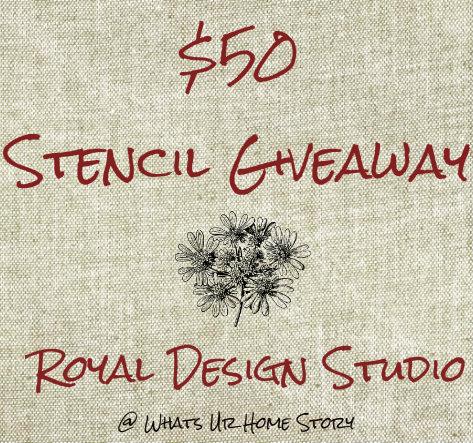 Royal Design Studio Stencil Giveaway