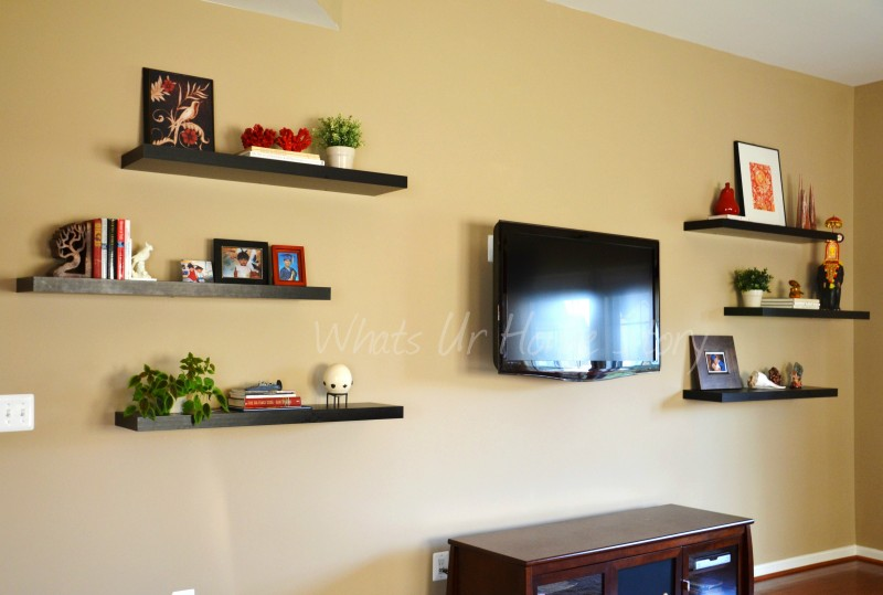 Tv stand for the home pinterest for Cheap floating shelves