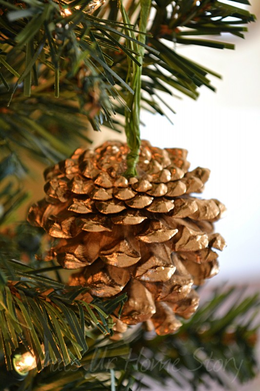 Gilded pine cone ornament knockoff whats ur home story for Pine cone christmas ornaments crafts