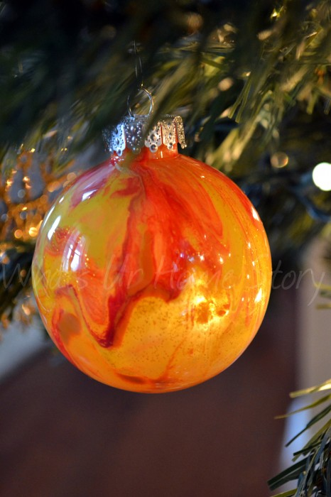 Painted Clear Ornament