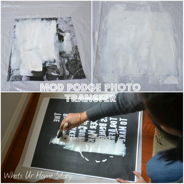 Mod Podge Photo Transfer Wall Art