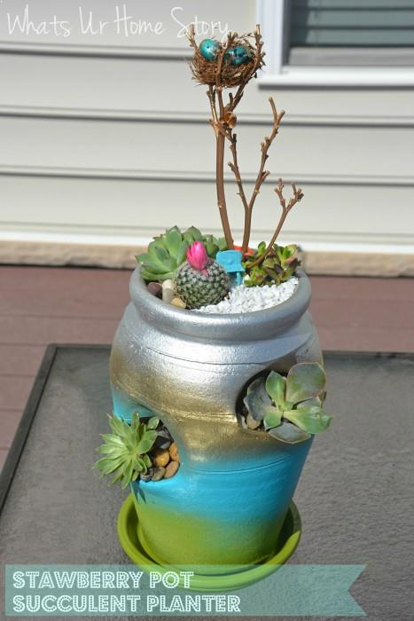 Strawberry Pot Succulent Planter