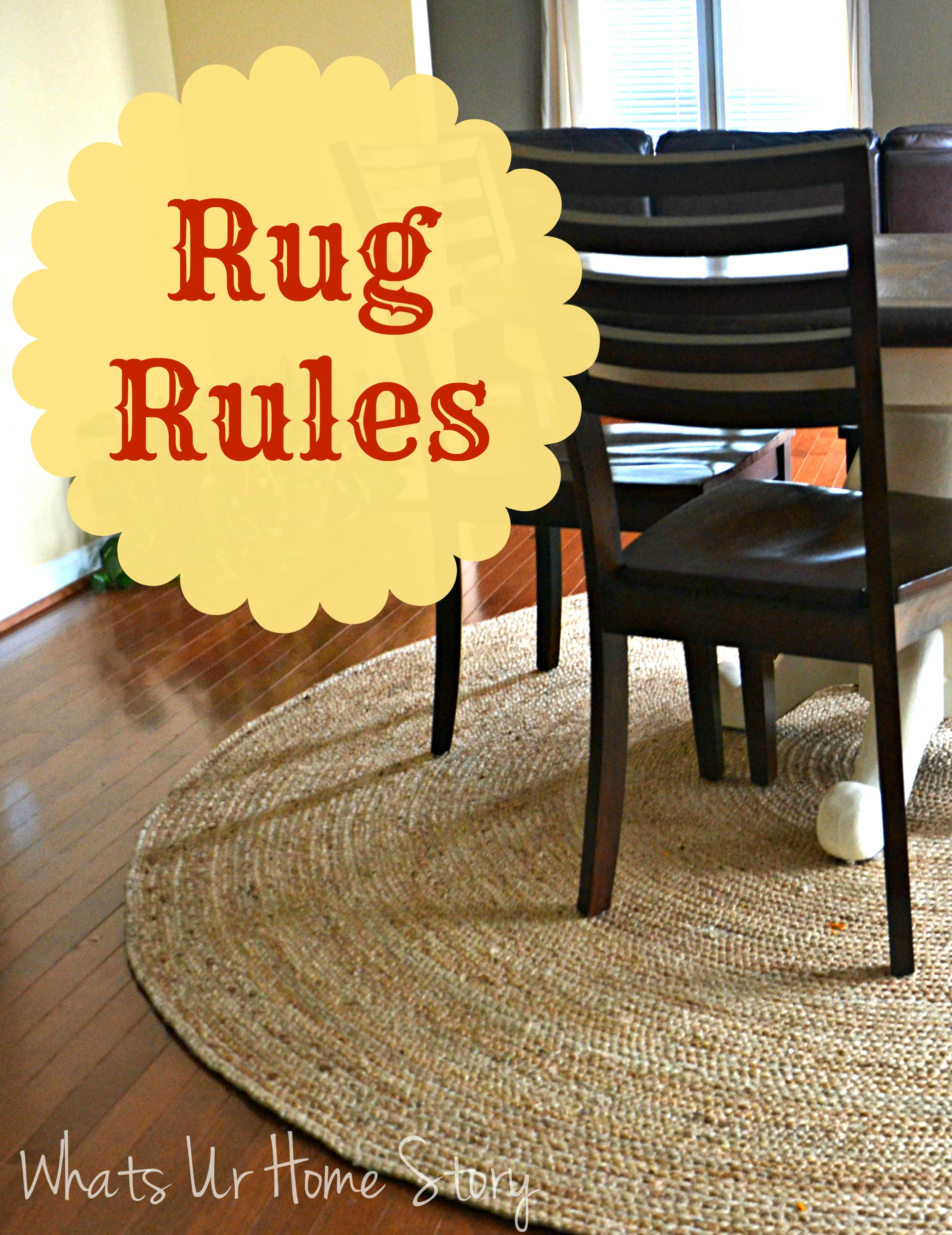 Decorating with rugs, Rug rules, what is the right size for a rug