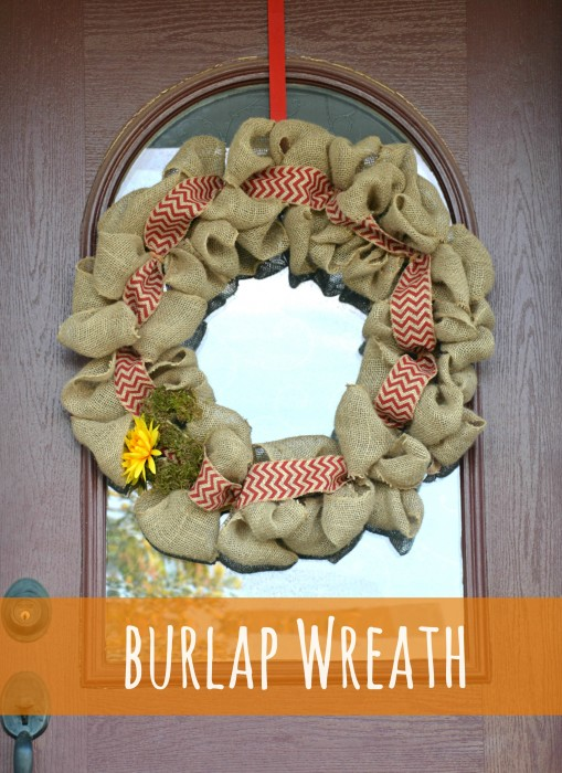 Whats Ur Home Story: DIY Burlap wreath tutorial, how to make a fall burlap wreath