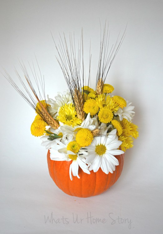 Pumpkin Floral Centerpiece, Easy Thanksgiving Centerpiece, Pumpkin Holiday centerpiece