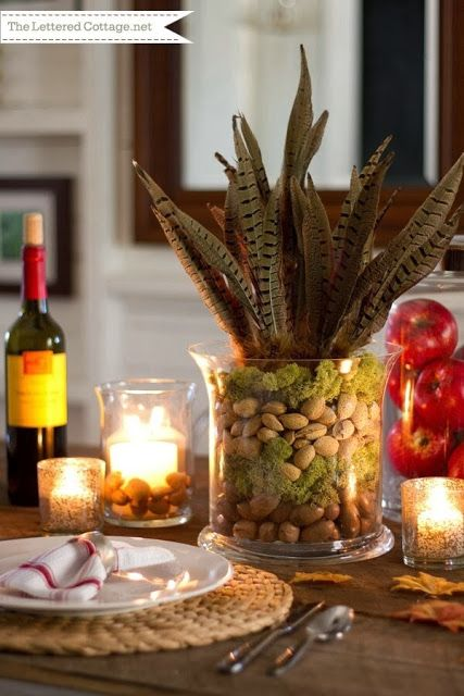 simple thanksgiving table decorations. Black Bedroom Furniture Sets. Home Design Ideas
