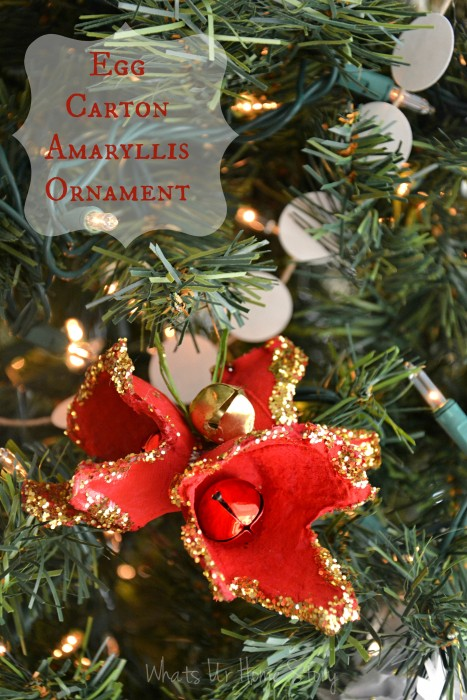 Egg carton holiday amaryllis ornament whats ur home story for Christmas decorations using egg cartons