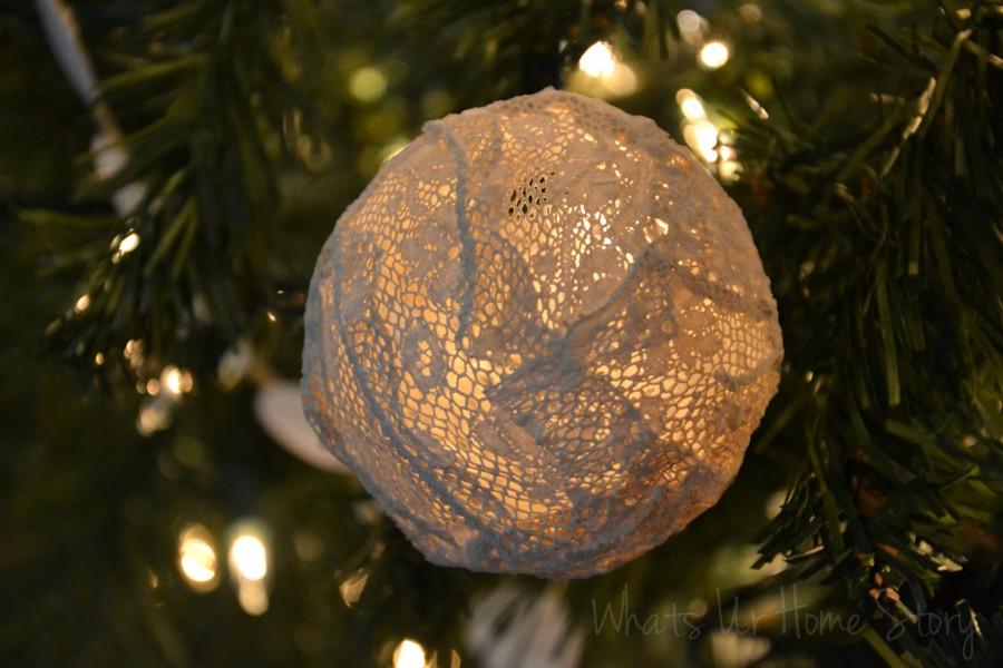 Vintage Lace Ornaments