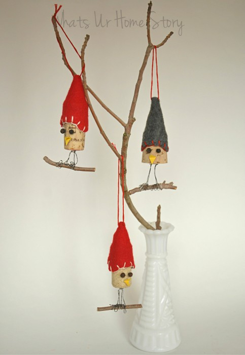Bird Wine Cork Ornaments
