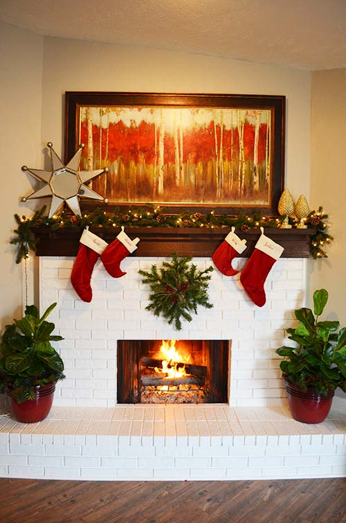 Easy christmas mantels whats ur home story - How to decorate my home ...