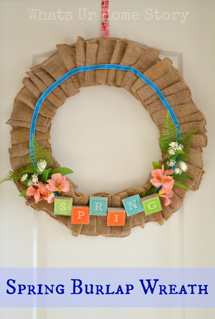 Spring Burlap Wreath & A Mega Linky Party