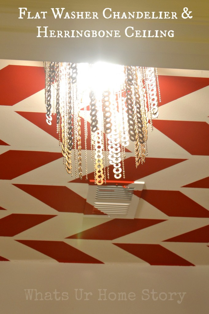 My Herringbone Ceiling & Washer Chandelier