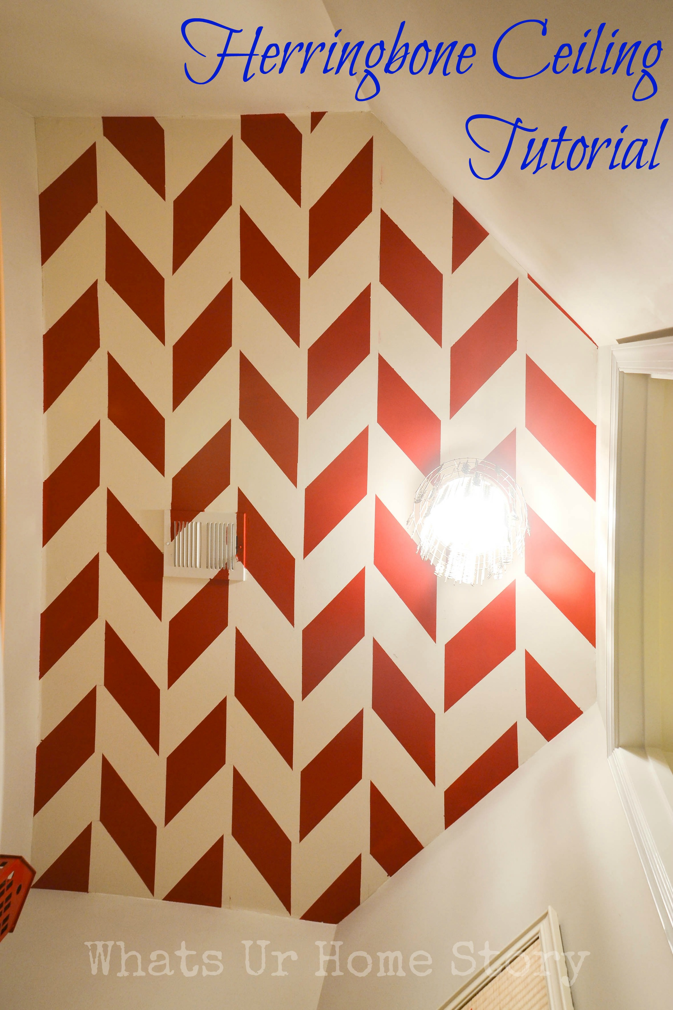 herringbone ceiling tutorial, herringbone ceiling