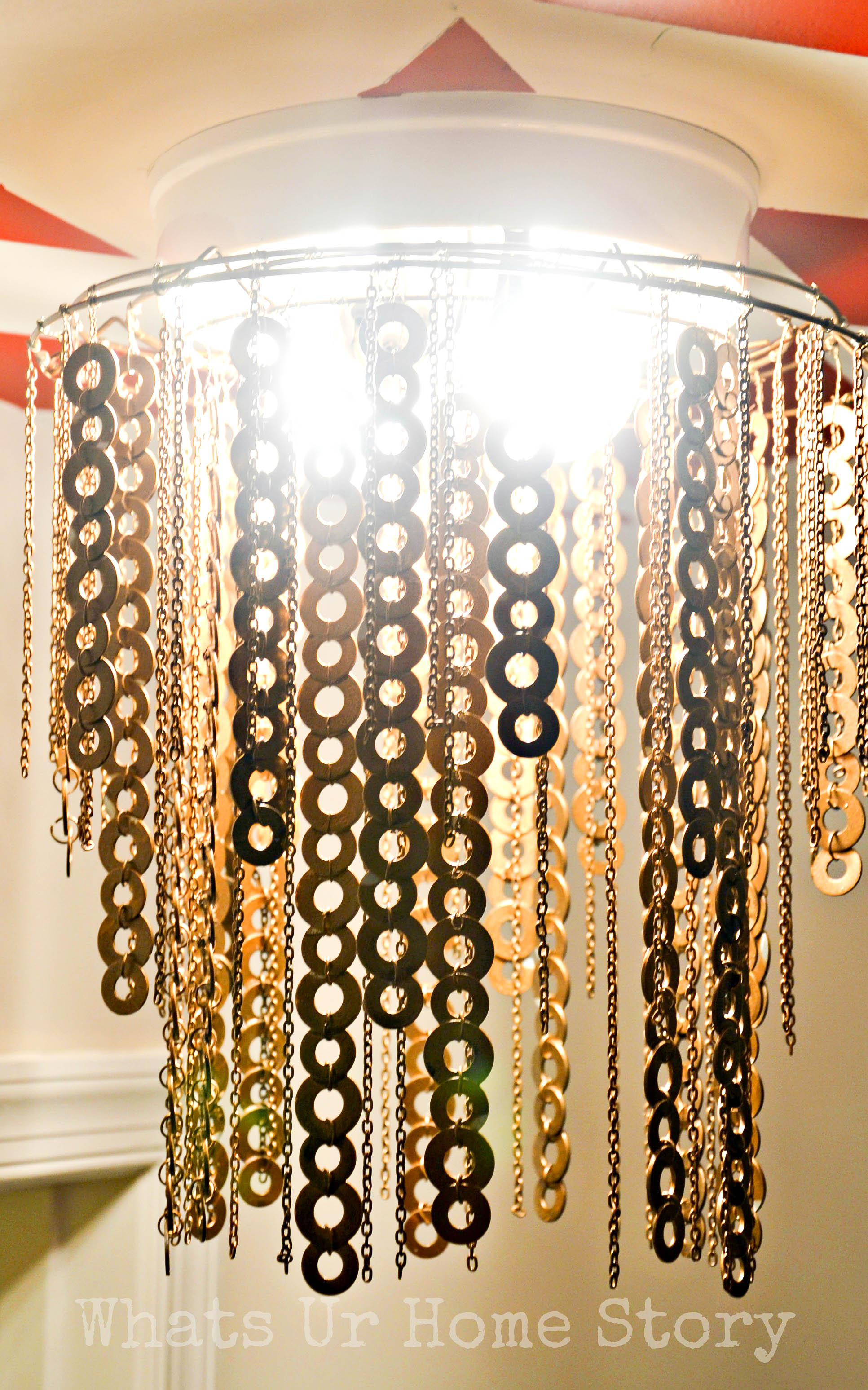 flat washer chandelier