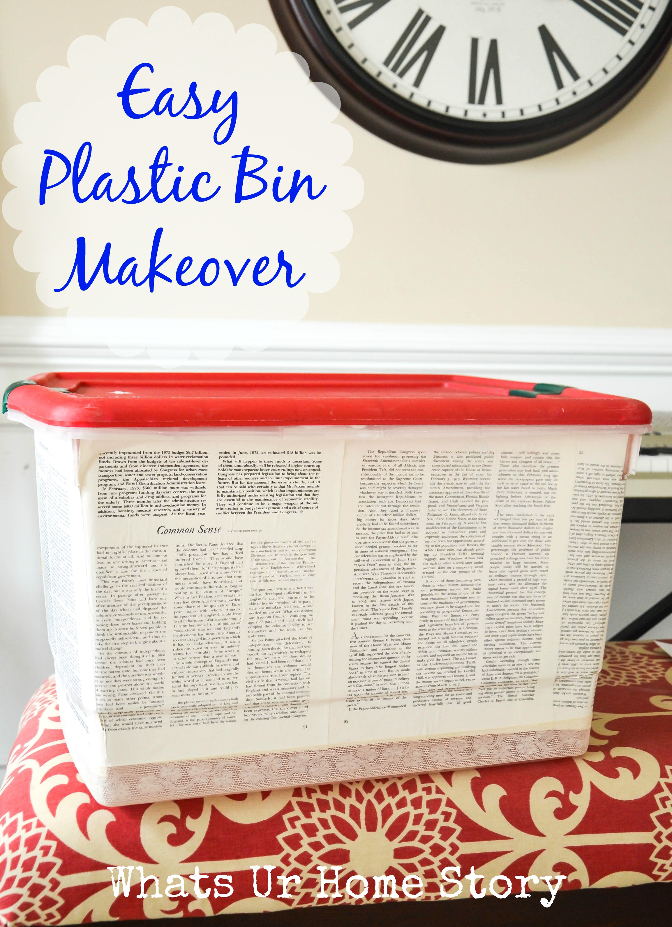 Plastic Storage Bin Makeover Whats Ur Home Story