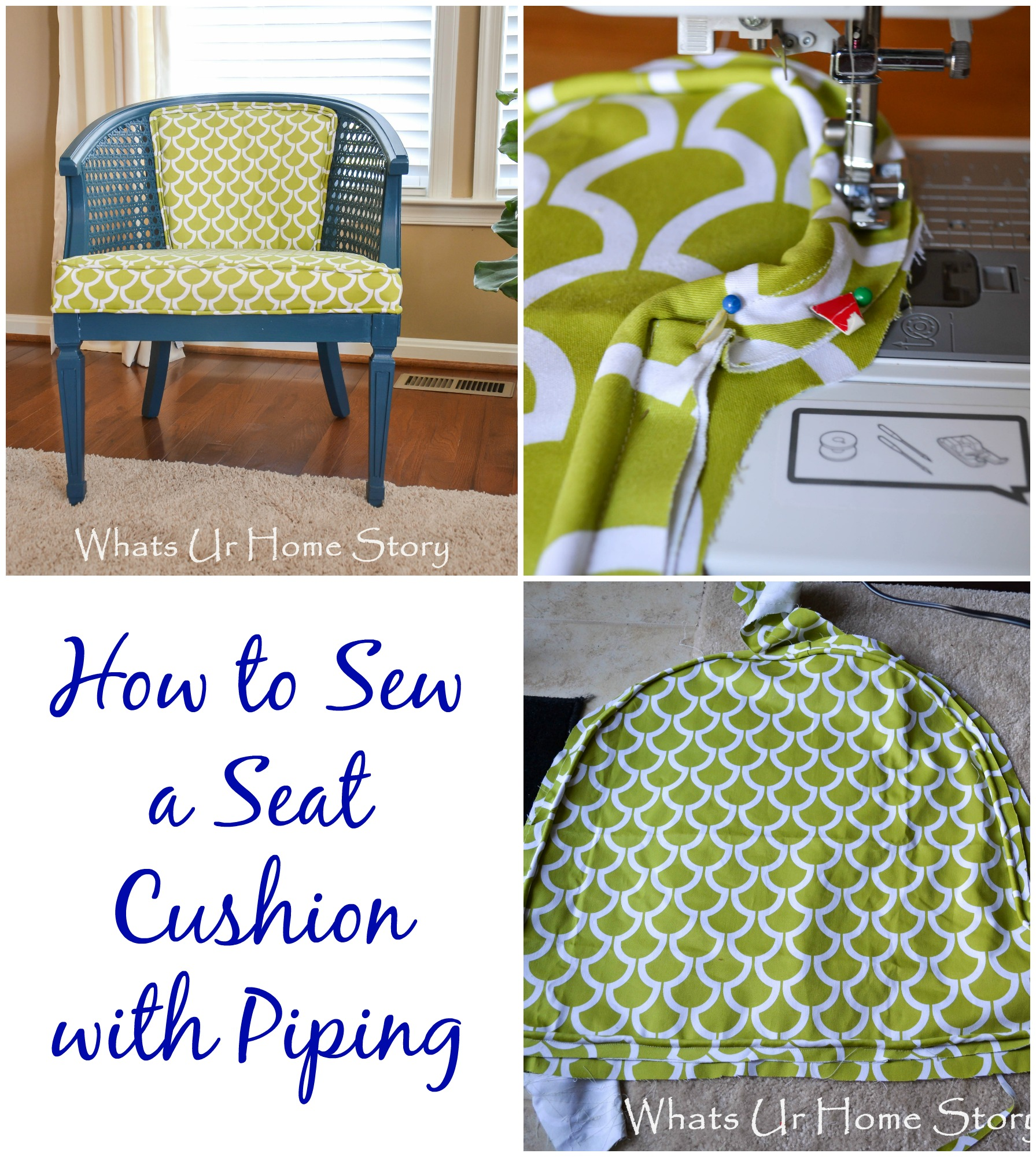 how to sew a seat cushion with piping whats ur home story