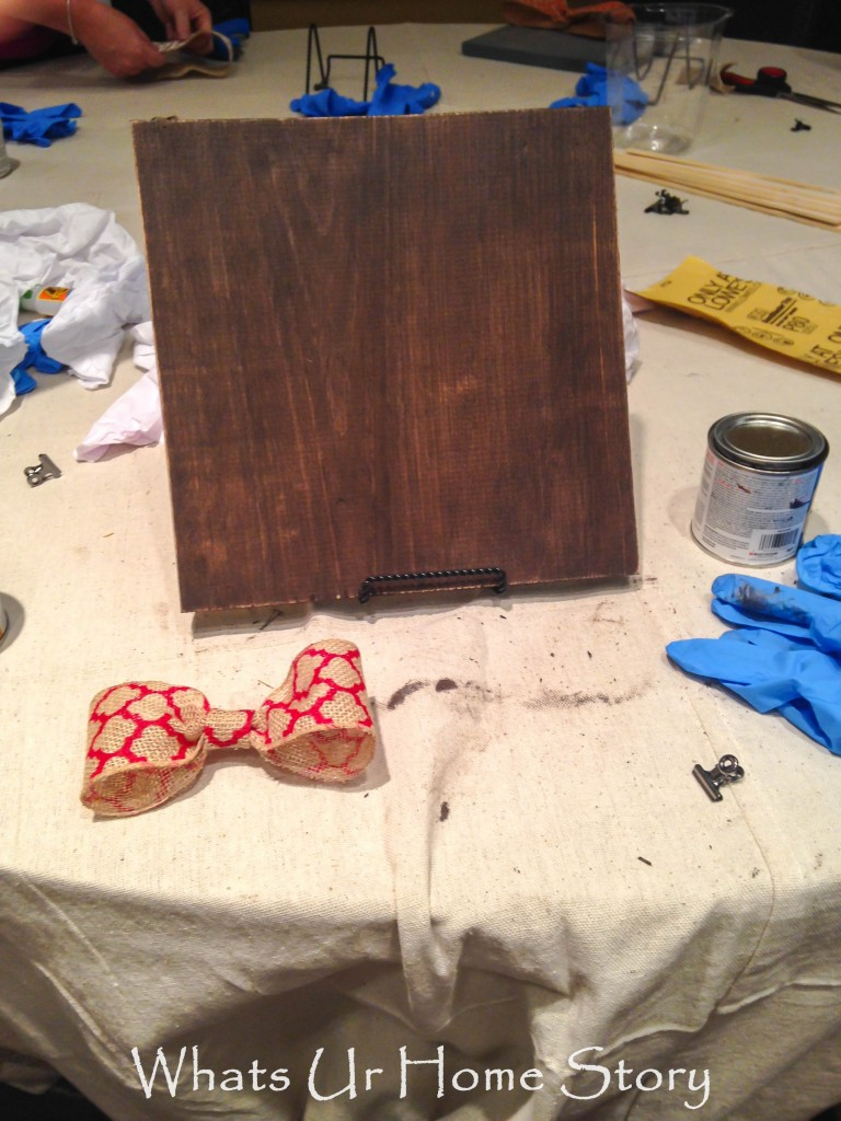 DIY Stained Wood Picture Frame
