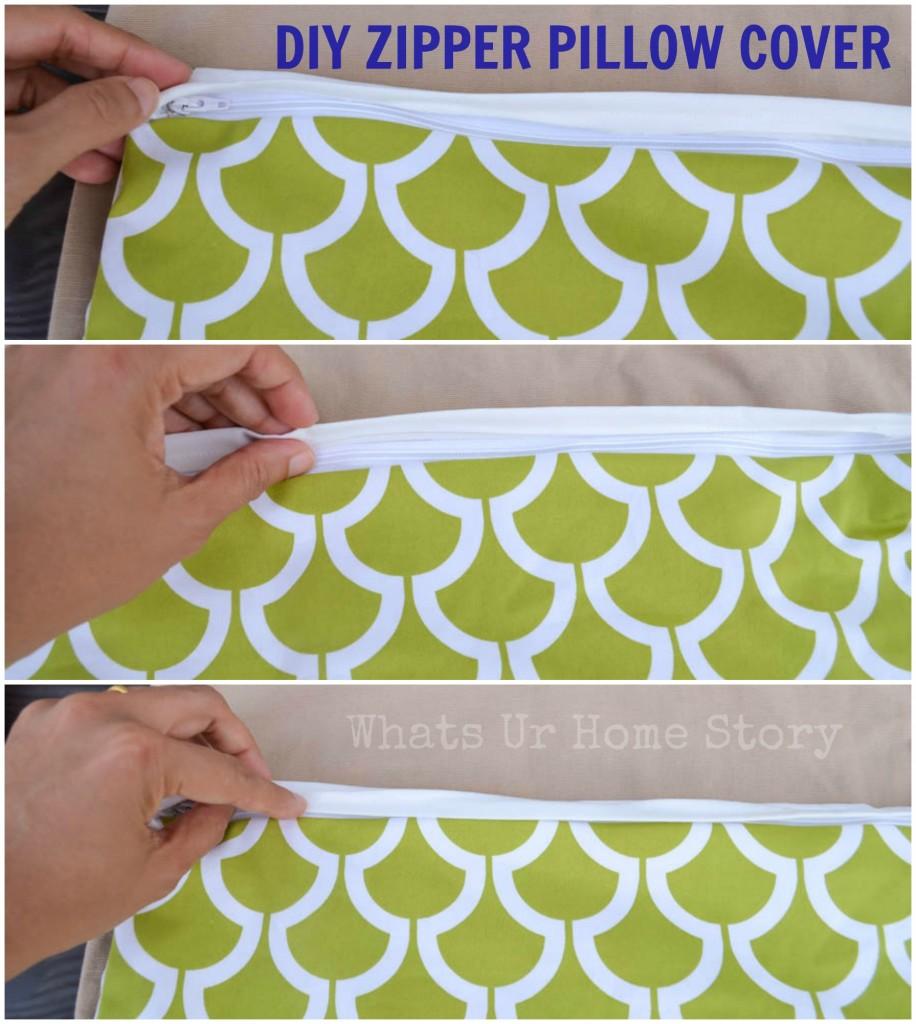 How to Sew a Pillow with Zipper   Zipper Pillow Cover Tutorial