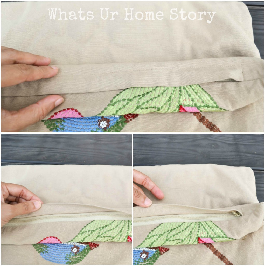 How to Sew a Pillow with Zipper   Zipper Pillow Cover Tutorial