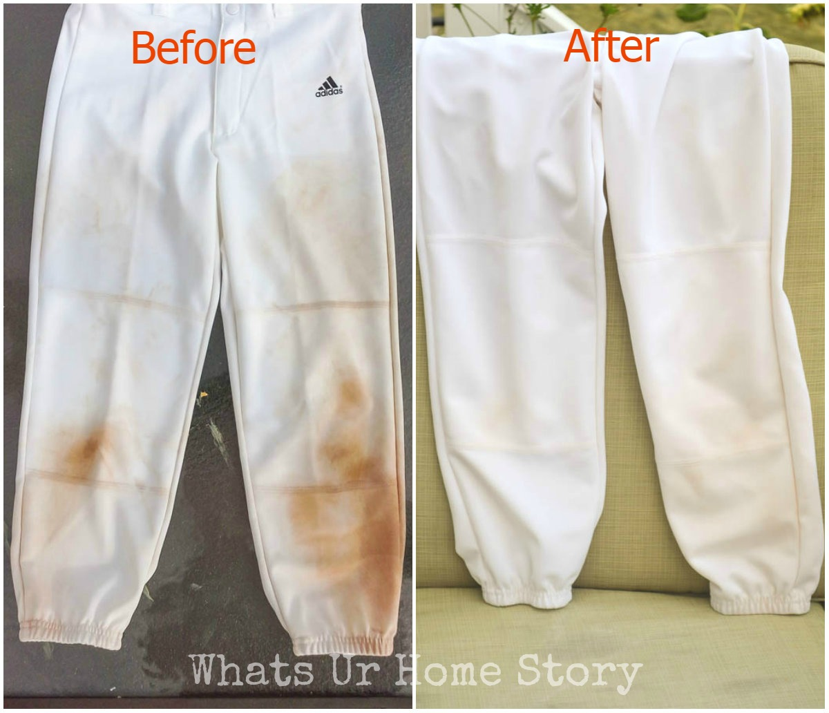 get rid of mud and grass stains