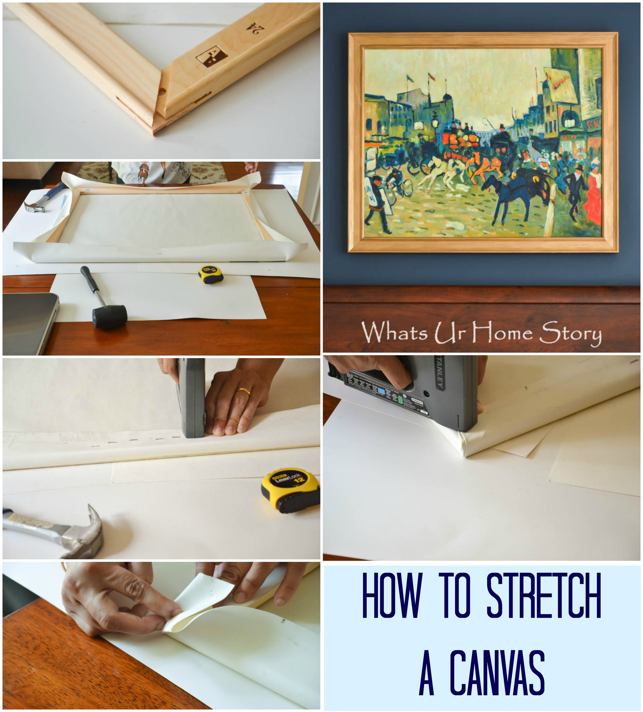 how to stretch a canvas whats ur home story. Black Bedroom Furniture Sets. Home Design Ideas