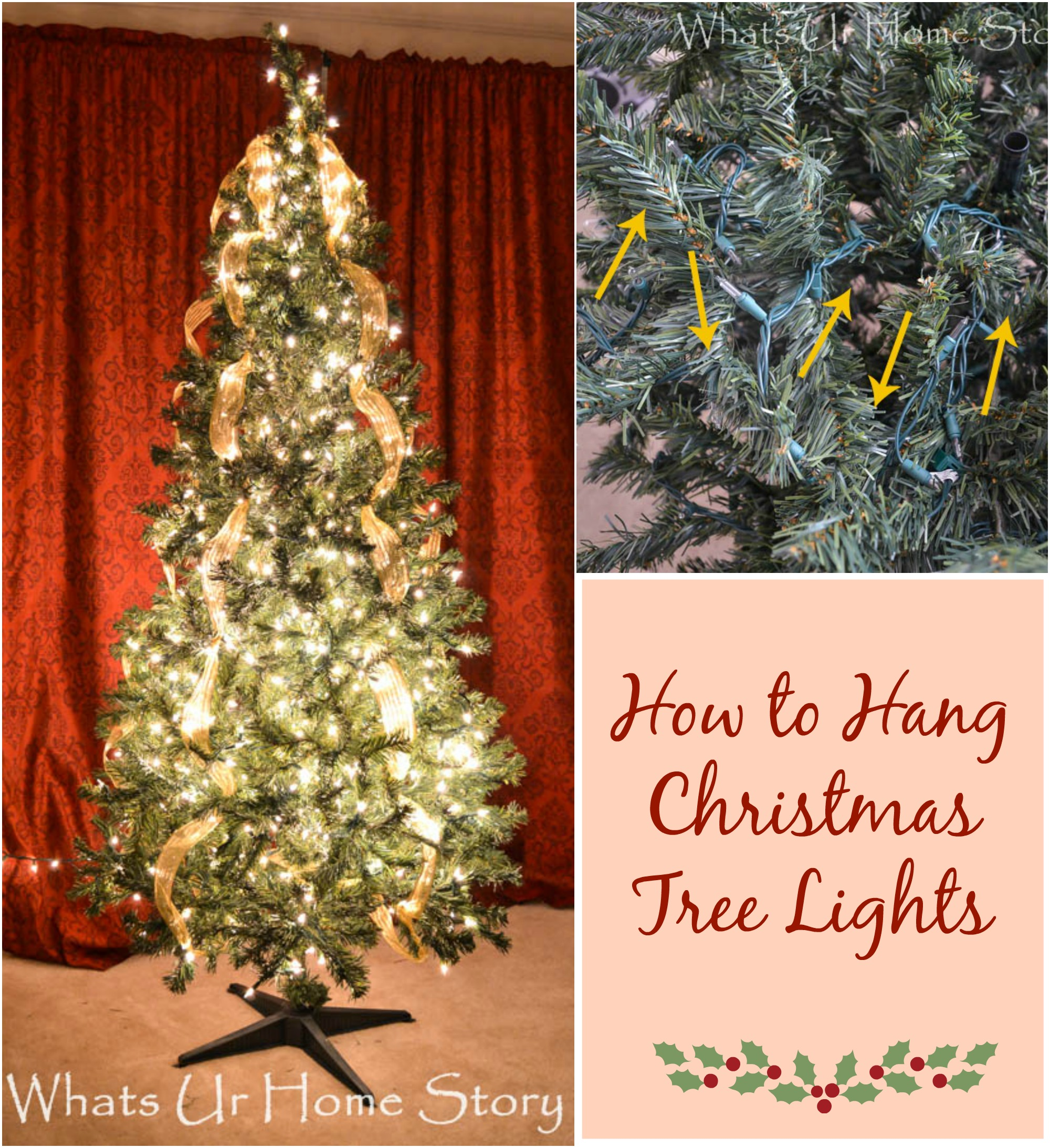 How to Hang Christmas Tree Lights - Whats Ur Home Story