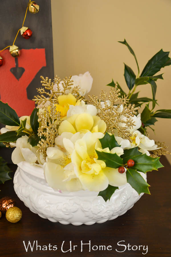 Diy Holiday Flower Arrangement Whats Ur Home Story
