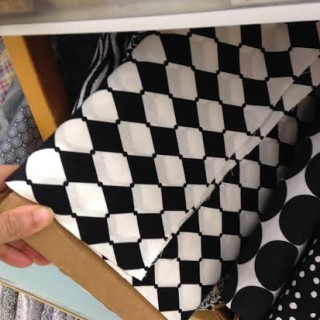 black and white harlequin pattern