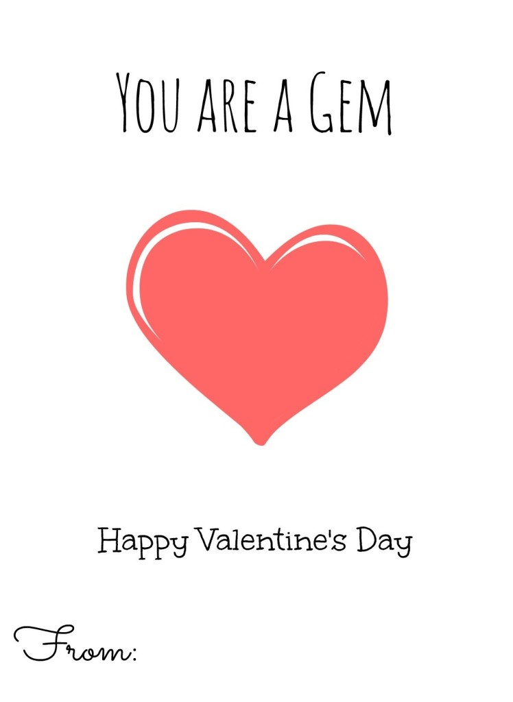 Valentines Day Card Free Printable
