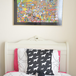 Black and Whilte Girls room DIY puzzle art