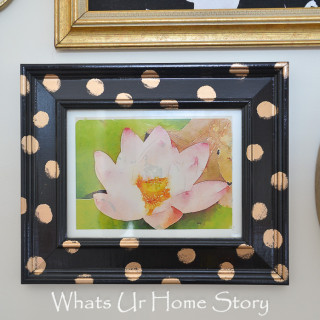 How to make a polka dot frame