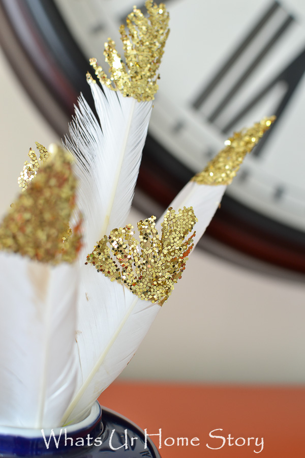 Glitter Dipped Feathers