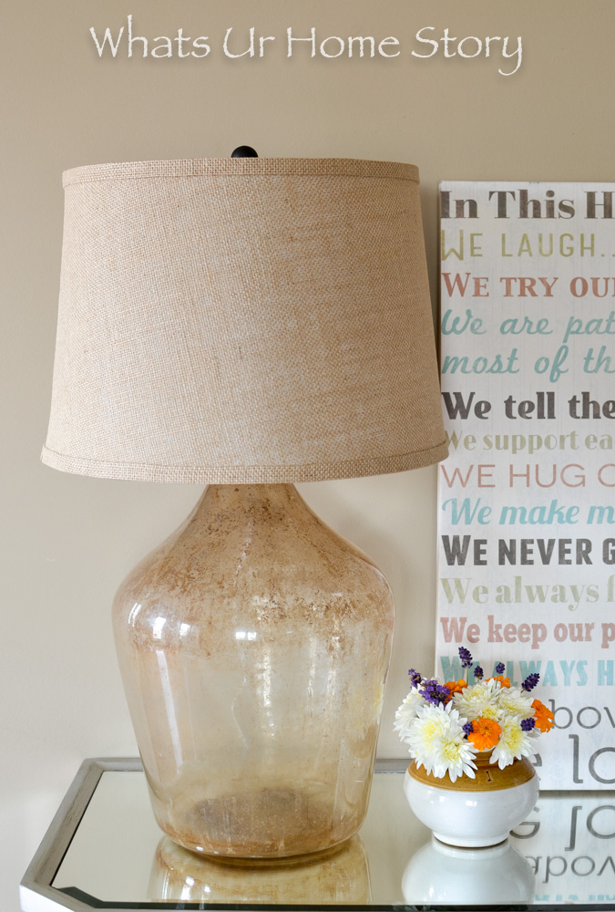 DIY Demijohn Lamp