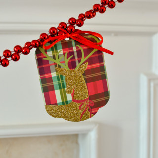 holidays with Hallmark gift tag garland