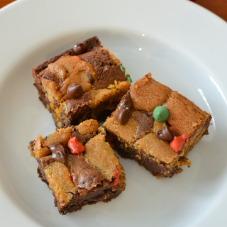 Brookie or Chocolate Chip Cookie Brownies are a great goliday dessert
