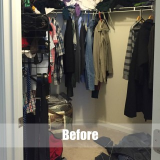 His closet makeover before