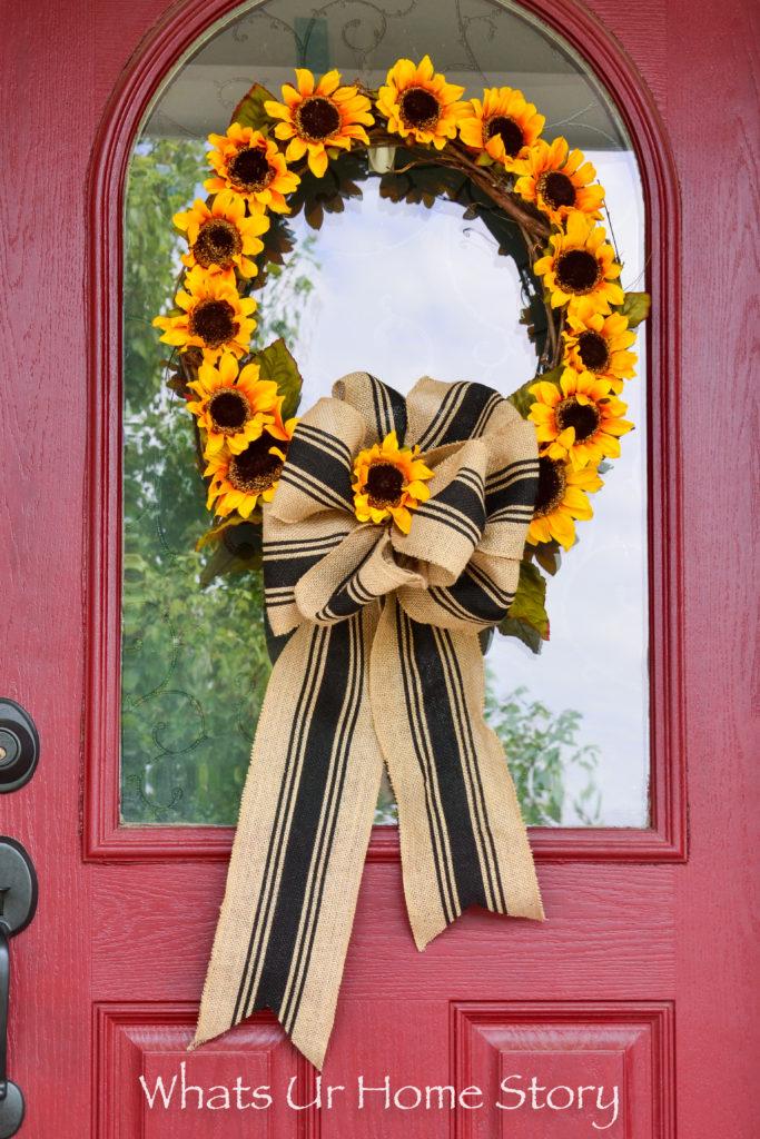 Sunflower Wreath DIY