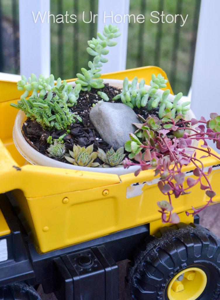 Succulent Toy Truck Planter