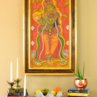 diy gold leaf frame kerala mural painting