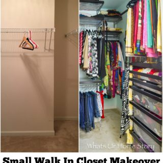 small walk in closet makeover with elfa